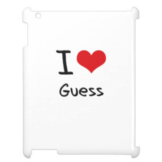I Love Guess Case For The iPad
