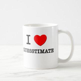 I Love Guesstimate Classic White Coffee Mug