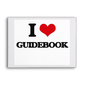 I love Guidebook Envelope
