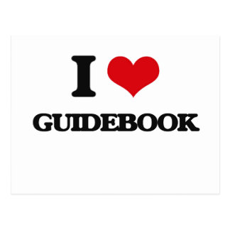 I love Guidebook Post Cards