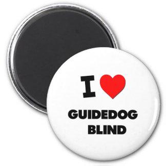 I Love Guidedog   Blind 2 Inch Round Magnet