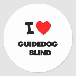 I Love Guidedog Blind Sticker