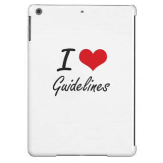 I love Guidelines Cover For iPad Air