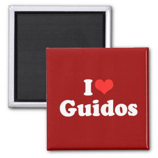 I Love Guidos Magnets