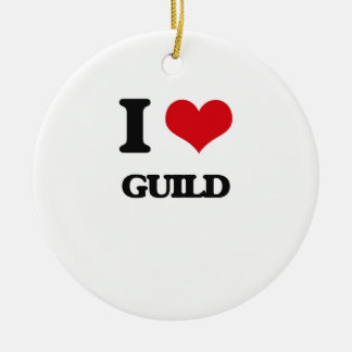 I love Guild Christmas Tree Ornament