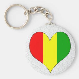 I Love Guinea Basic Round Button Keychain