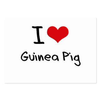 I Love Guinea Pig Business Cards