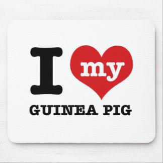 I Love Guinea Pig Mouse Pad