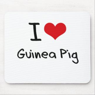 I Love Guinea Pig Mousepad