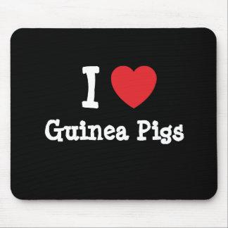 I love Guinea Pigs heart custom personalized Mouse Mat