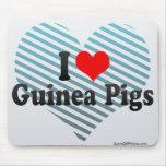 I Love Guinea Pigs Mouse Pad