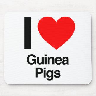 i love guinea pigs mousepads