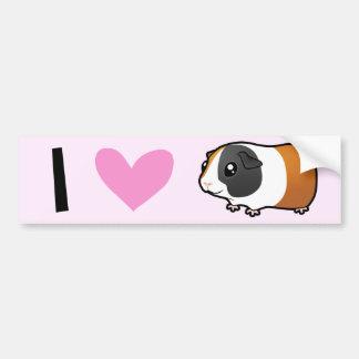 I Love Guinea Pigs (smooth) Bumper Sticker
