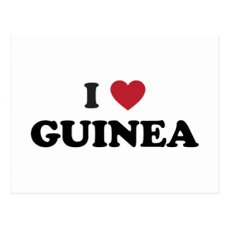 I Love Guinea Postcard