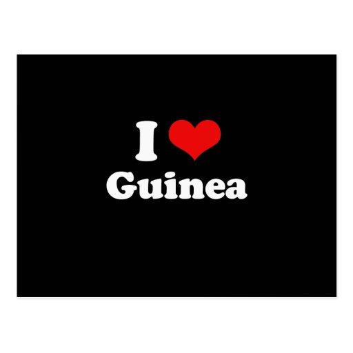 I Love Guinea Tshirt Postcard