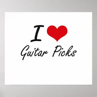 I love Guitar Picks Poster