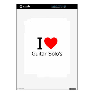 I Love Guitar Solo's iPad 2 Skin
