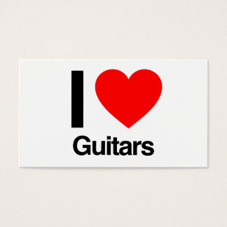 i love guitars business card