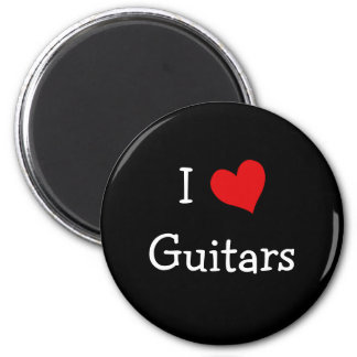 I Love Guitars Magnet