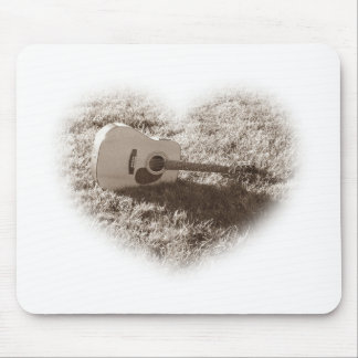 I Love Guitars Mouse Pad