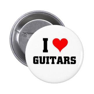 I love Guitars Pinback Button