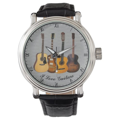 I LOVE GUITARS WRISTWATCH
