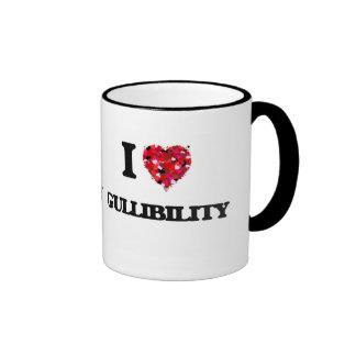 I Love Gullibility Ringer Coffee Mug