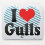 I Love Gulls Mouse Pad