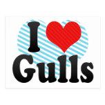 I Love Gulls Postcard