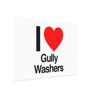 i love gully washers canvas print