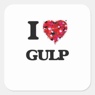 I Love Gulp Square Sticker