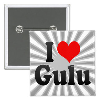 I Love Gulu, Uganda Button
