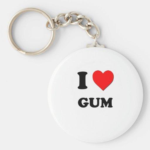 I Love Gum Keychain