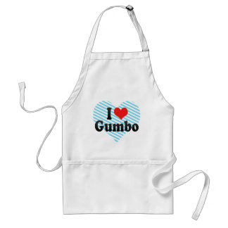 I Love Gumbo Adult Apron