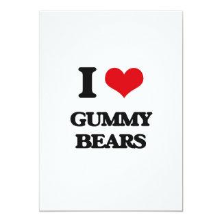 "I love Gummy Bears 5"" X 7"" Invitation Card"