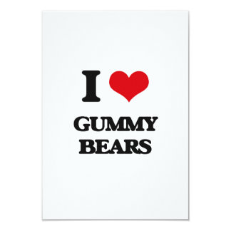 "I love Gummy Bears 3.5"" X 5"" Invitation Card"