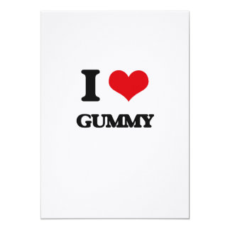 "I love Gummy 5"" X 7"" Invitation Card"