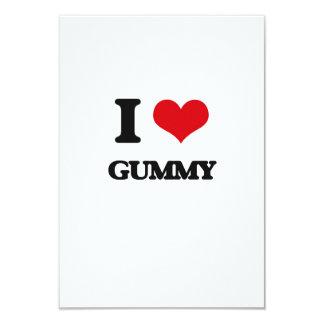 "I love Gummy 3.5"" X 5"" Invitation Card"