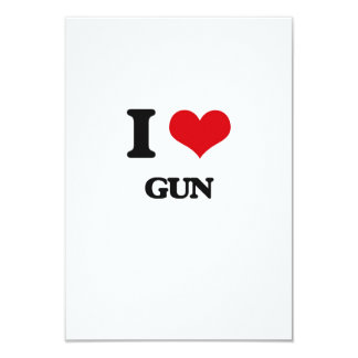 I love Gun 3.5x5 Paper Invitation Card