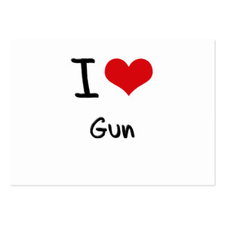 I Love Gun Large Business Cards (Pack Of 100)