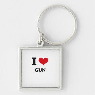 I love Gun Keychain