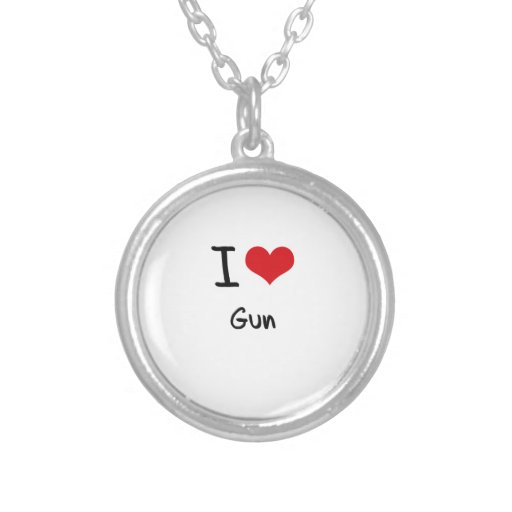 I Love Gun Necklaces