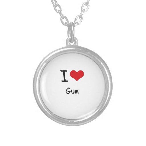 I Love Gun Custom Necklace