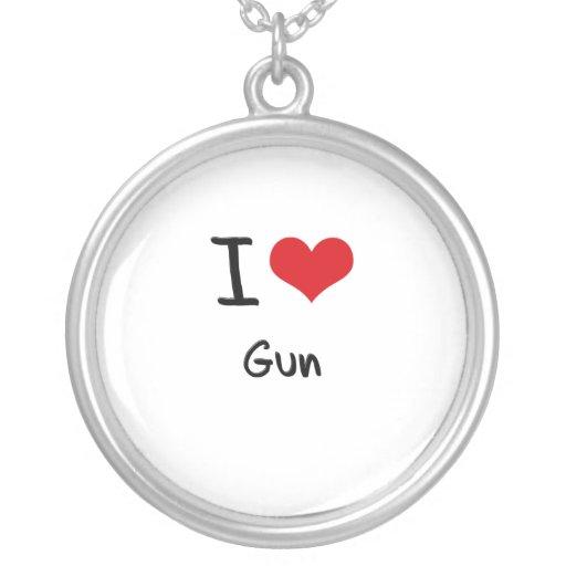 I Love Gun Custom Jewelry
