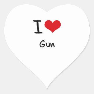 I Love Gun Stickers