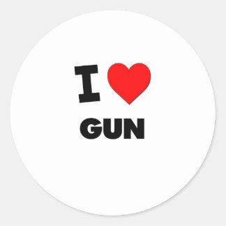 I Love Gun Sticker