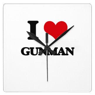 I love Gunman Square Wallclock