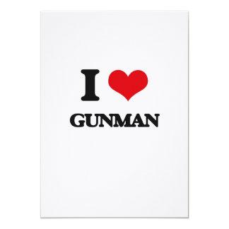 I love Gunman 5x7 Paper Invitation Card