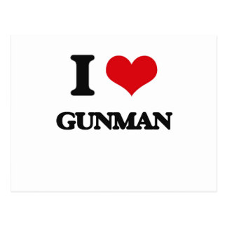 I love Gunman Postcard