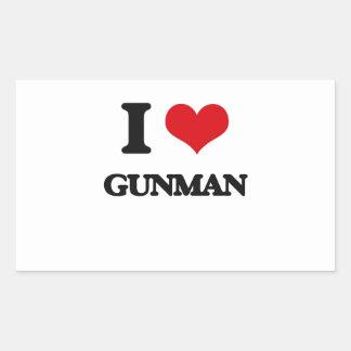 I love Gunman Rectangle Sticker